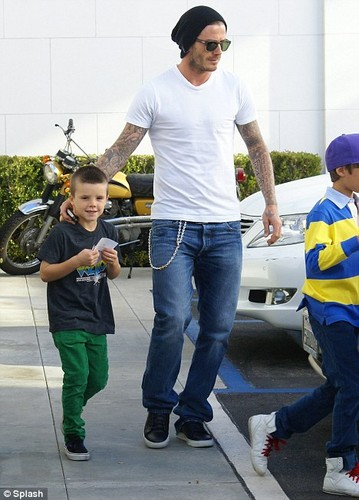 David Beckham with his sons