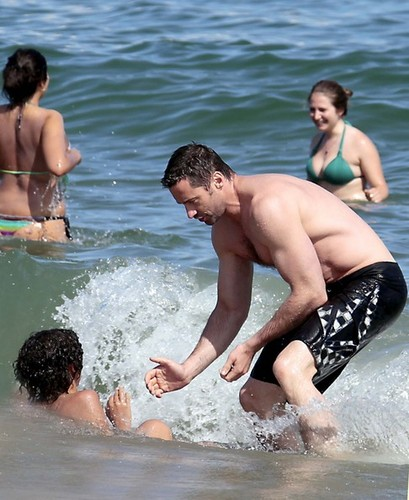 Hugh Jackman in the playa