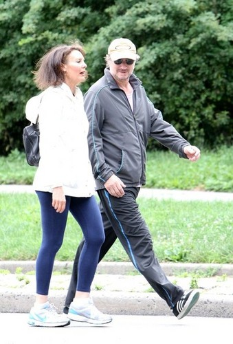 Liam Neeson Strolls Around Central Park