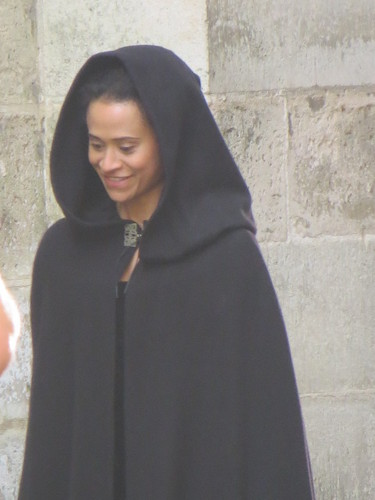 Lovely Queen in a Black Cape