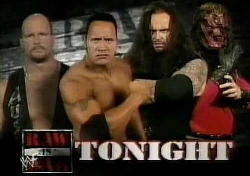 Match of Stone Cold & The Rock vs Undertaker & Kane, 1998