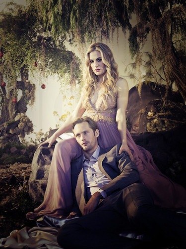 New Release Alexander Skarsgård & Anna Paquin for EW by Michael Muller.