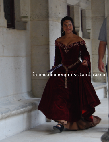 Queen Guinevere in Red Velvet