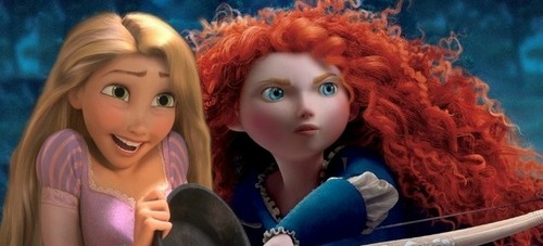 Rapunzel and Merida Crossover