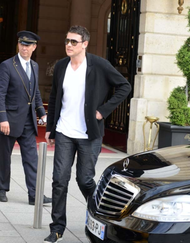 Cory & Lea Leave Their Hotel in Paris -June 3, 2012