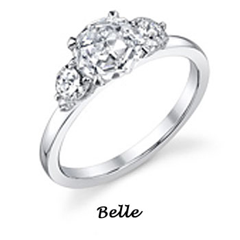 DP engagement rings: Belle