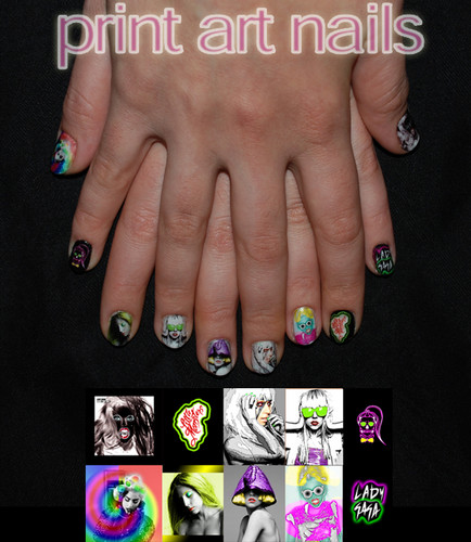 Lady Gaga Nails Art