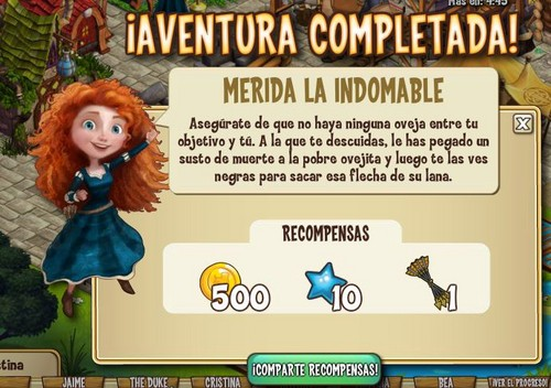 Merida in CastleVille on Spanish Facebook