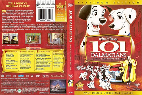 Walt डिज़्नी DVD Covers - 101 Dalmatians: 2 Disc Platinum Edition