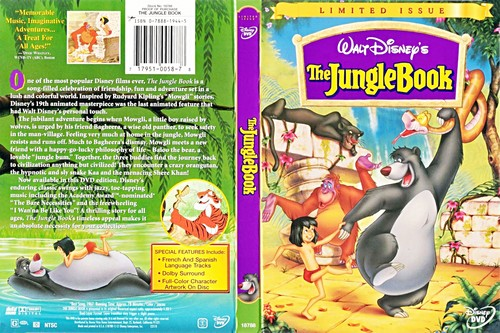 Walt डिज़्नी DVD Covers - The Jungle Book: Limited Issue