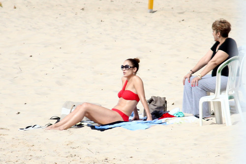Wearing A Bikini At A Beach In Brazil [30 June 2012]