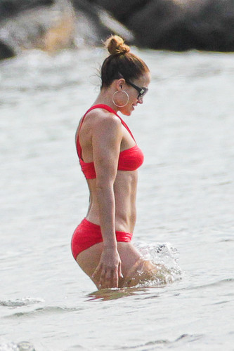 Wearing A Bikini At A bờ biển, bãi biển In Brazil [30 June 2012]