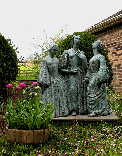 The Bronte Sisters Statue