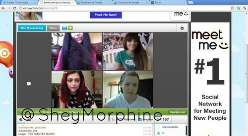 madina, paris, selina and bjan on tinychat