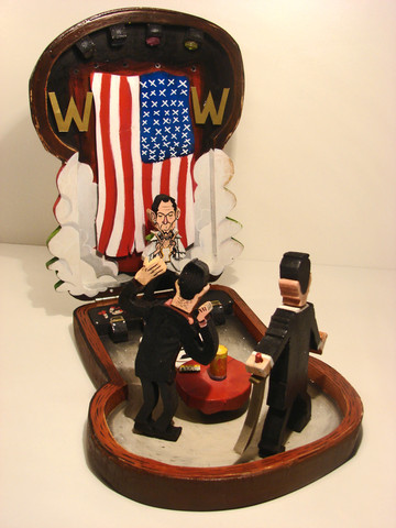 """Tony Wonder Playset"" Sculpture by Mike Minogue & Paddy Dunne"