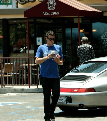 Cory Monteith Leaves The Coffee boon in West Hollywood - July 11, 2012