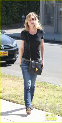 Ellen Pompeo shopping on Beverly Boulevard