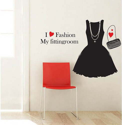 I upendo Fashion My Fitting Room ukuta Sticker