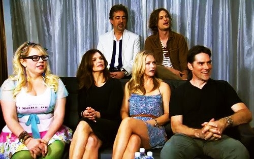 Joe, Matthew, Kirsten, Jeanne Tripplehorn, AJ & Thomas