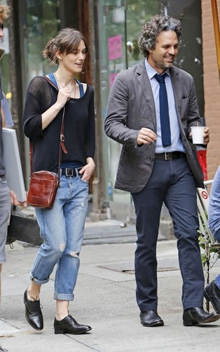 Keira on the Soho district set in New York City