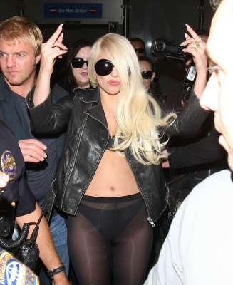 Lady Gaga Arriving at LAX Airport in Los Angeles (July 9th)