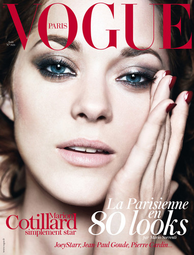 Marion Cotillard on the Cover of the August 2012 Issue of Vogue Paris