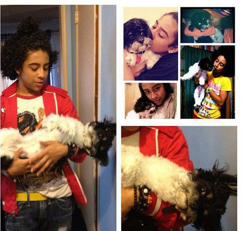 PRINCETON AND HIS R.I.P DOG BUT I STILL LIKE THIS PIC