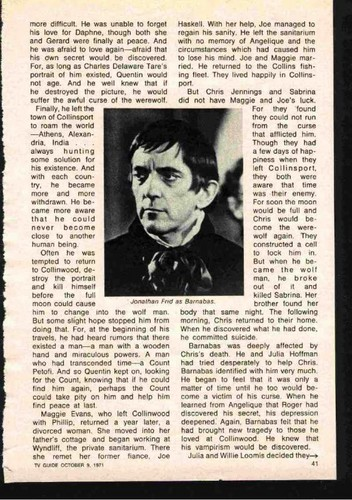 """Here's What Really Happened to Barnabas & Company"", sejak Sam Hall, TV Guide, 1971 (Page 2)"