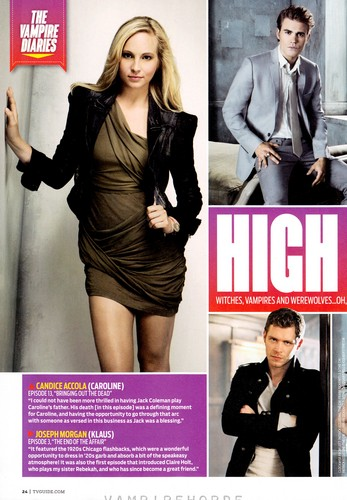TV Guide TVD Comic Con special edition - scans