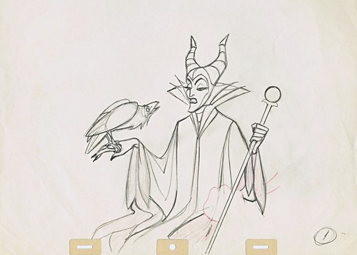 Walt disney Sketches - Diablo & Maleficent