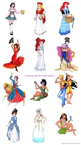 a disney girl for every nation