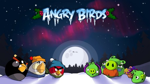 Angry Birds Seasons kertas dinding