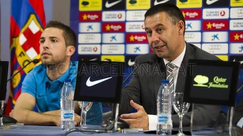 Jordi Alba Press Conference