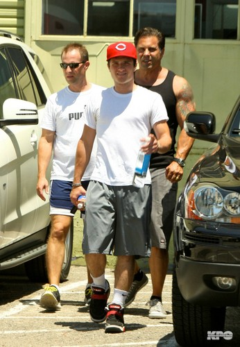 Josh and his dad after workout - July 20