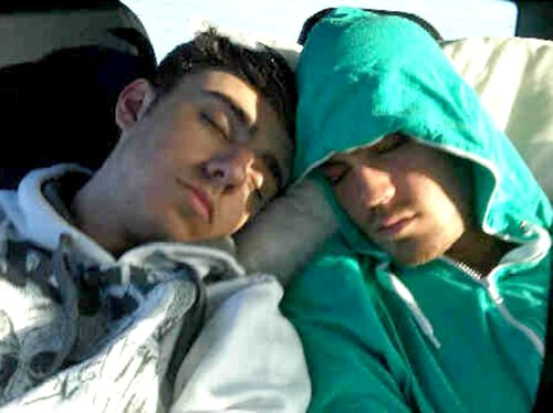 Nathan and Max Sleeping So Cute <3