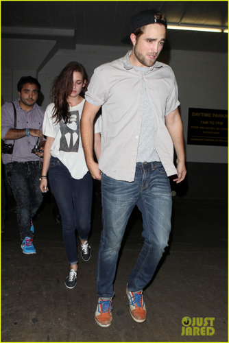 Robert&Kristen - - Spending the evening at The Hotel Cafe - July 19, 2012