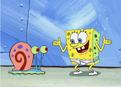 Spongebob in UNDERPANTS!! :))