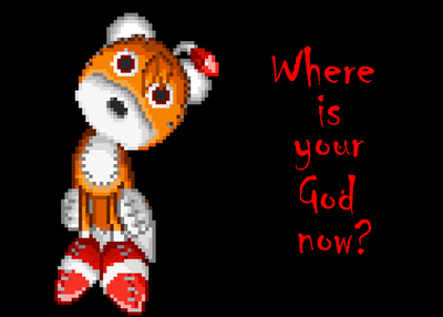 Wheres Your God Now? -Tails Doll