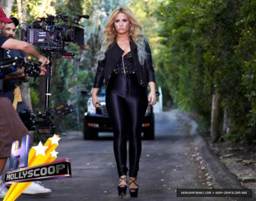 Demi - Shooting a PSA for Voto Latino in Los Angeles, CA - July 28, 2012
