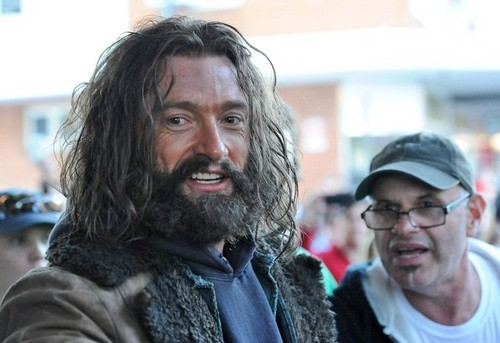 Hugh Jackman is Very Hairy on the set of 'Wolverine'