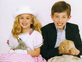 JonBenet and her brother Burke