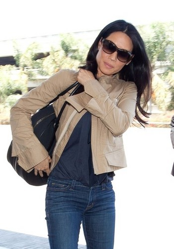 Lucy Liu Takes Off [July 30, 2012]