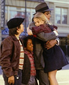 "Michael And The Children From The Movie, ""Moonwalk"""