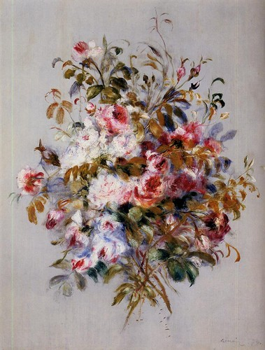 Pierre Auguste Renoir. A Bouquet of Roses, 1879