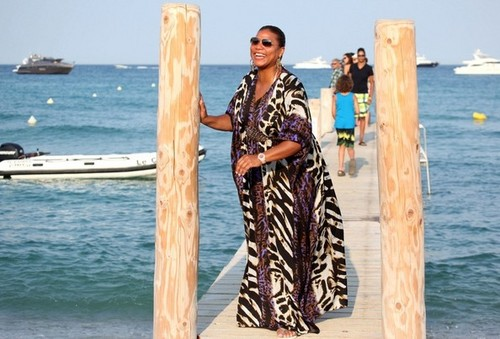 Queen Latifa Strikes a Pose [July 24, 2012]