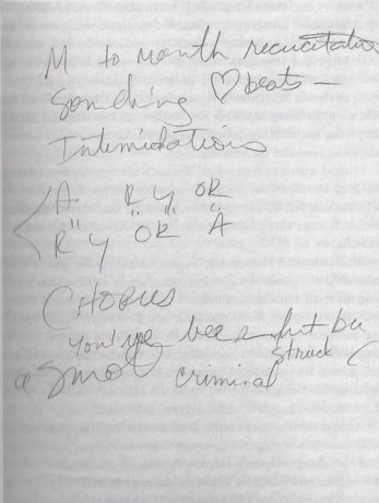 Smooth criminal lyric-MJ handwritten