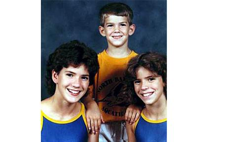 Young Michael Phelps with His Sisters