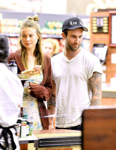 Adam and Behati out in West Hollywood