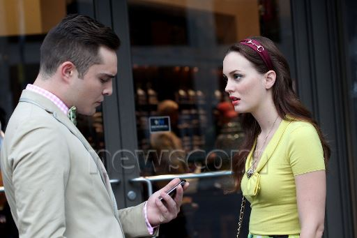Ed and Leighton on set 10.08.2012