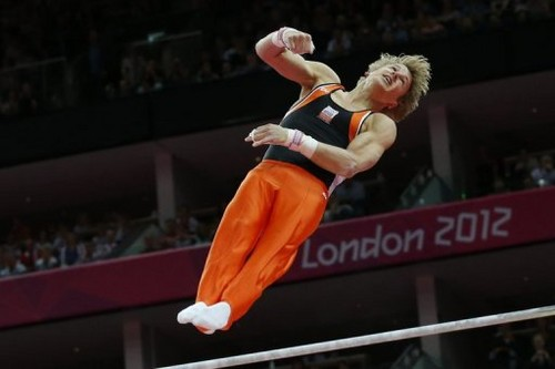 Epke Zonderland (NED)- gold medalist at Horizontal Bar